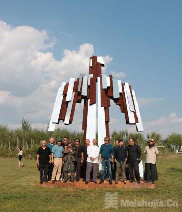 中阿41件艺术作品落户银川友谊雕塑园
