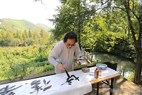 石屋清珙的道场,徐戎以书写向这位伟大的禅师敬以知见皈依!
