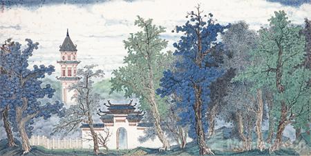 """山水""""景·色""""诠释""""艺术与生活""""——记""""景·色——中国当代青绿山水画学术邀请展"""""""