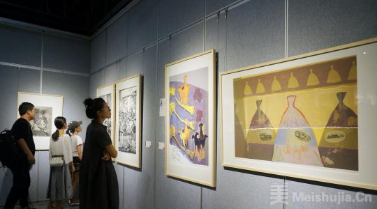 中央美术学院、广州美术学院版画联展在桂林开展
