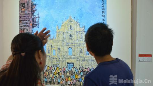 200幅粤港澳台青年艺术作品在广州展出