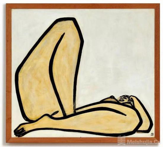 拍出1.98亿港元,常玉晚年巨作《曲腿裸女》画一笔一千万