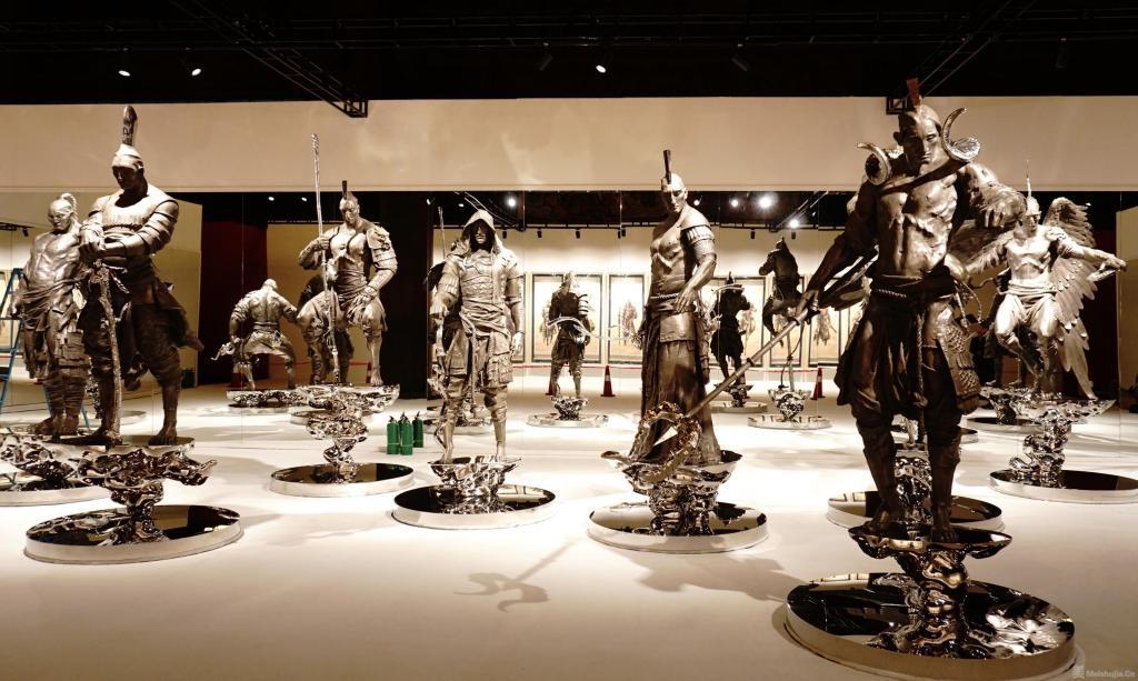 太庙首次举办当代艺术展,任哲新作十二生肖大型雕塑亮相