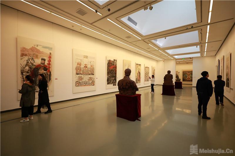 陕甘宁青新主题性美术作品巡展在京收官