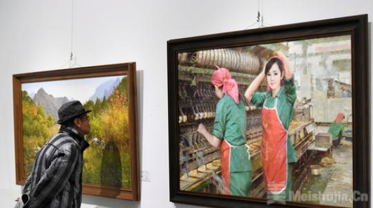 60余位朝鲜知名画家作品山西展出