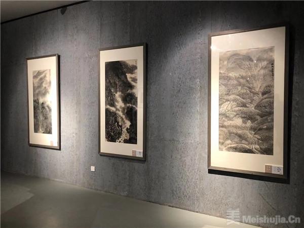 井冈情怀--石大法山水画展在北京上方美术馆举行