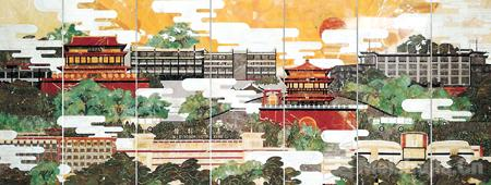 """笔墨丹青谱写西北风采——""""陕甘宁青新主题性美术作品巡展""""在中国国家画院美术馆展出"""