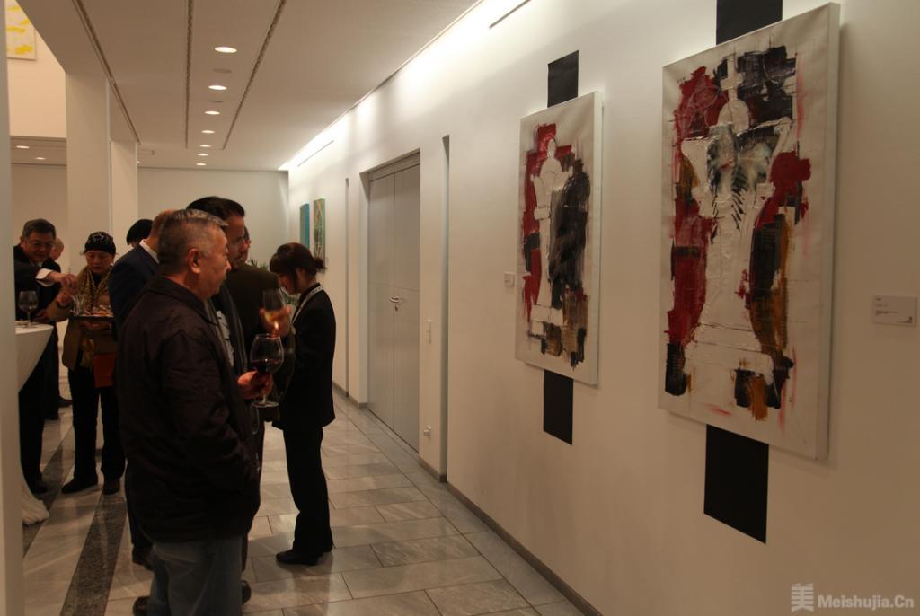 在中国——德国艺术家作品展在德国驻华大使馆开幕