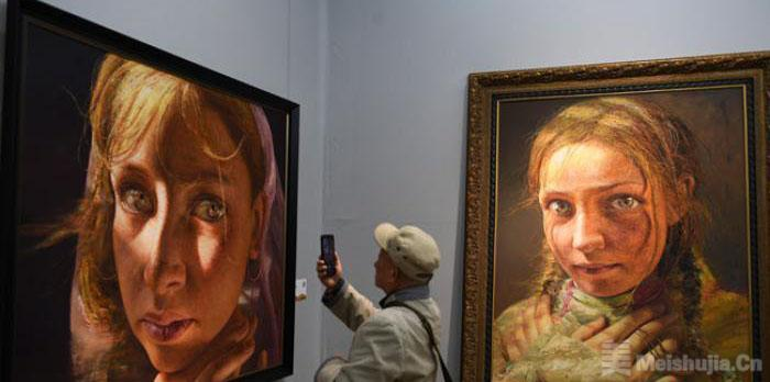 数百幅中国油画作品亮相兰州 生动呈现西部历史人文