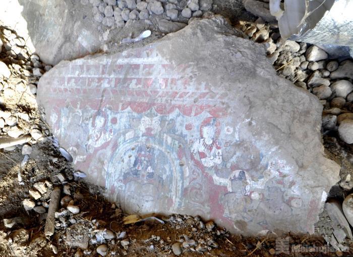 青海玉树称多境内发现一处13世纪前后藏传佛教壁画