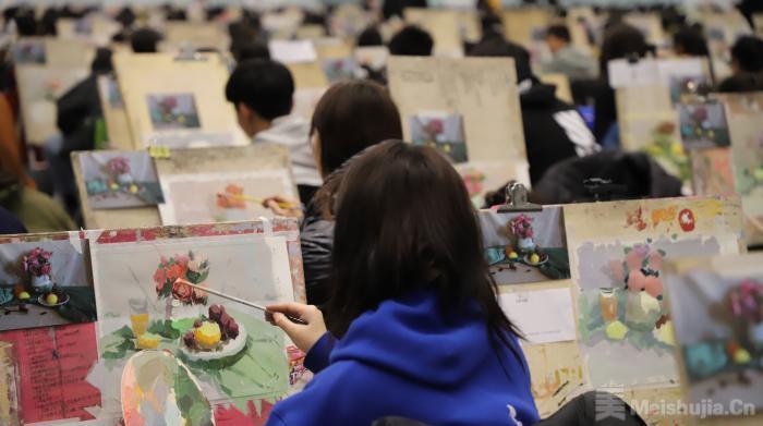 宁夏举办首届艺考美术模拟联考 2500名考生同场竞技