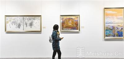 河南省老艺术家美术作品展开幕