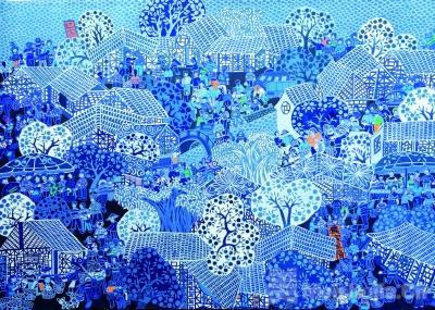 800人的村庄,300人是画家——浙江余东农民画进京跨年