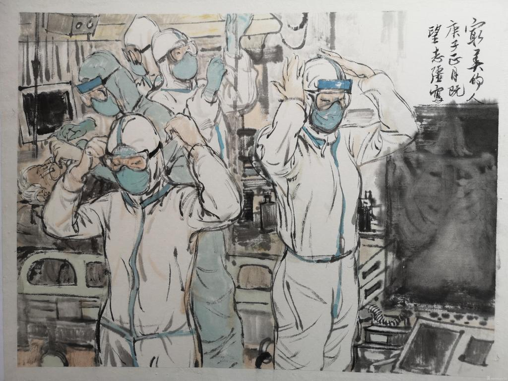 全民搞疫 艺术家在行动:卢志强《勇敢的身影》