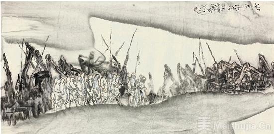 全民搞疫 艺术家在行动:方土《长江中流》