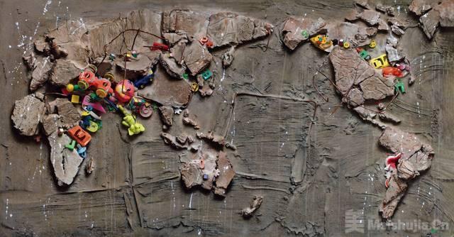 冷军用垃圾堆积出一幅画,卖了4370万,网友却说:没有美感