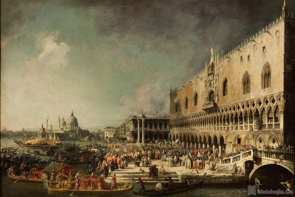 加纳莱托《在威尼斯迎接法国大使》