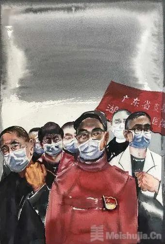 广州美术学院水彩画作品展:凝聚战疫情感和力量,展期至5月5日