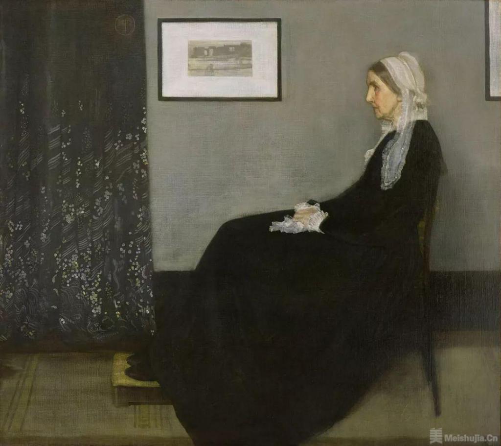 惠斯勒《灰与黑的排列:艺术家母亲》