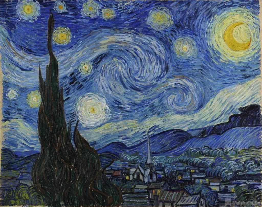 文森特 • 梵高《星月夜》