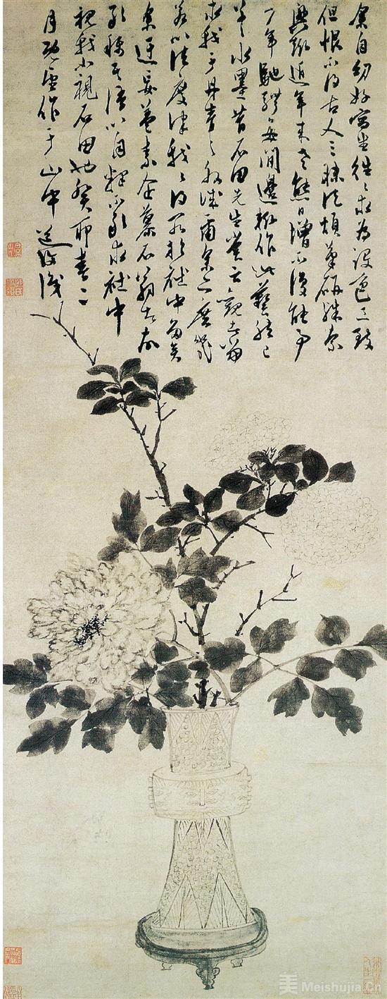 花卉豪一世:陈淳的小写意书画