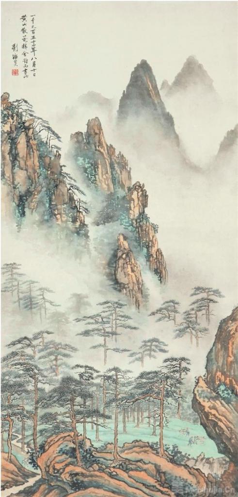 晴岚烟雨入画来——读刘海粟《黄山散花坞》