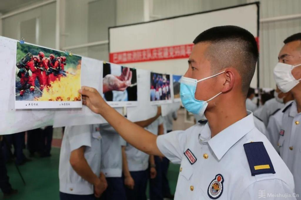 """巴州森林消防支队开展""""庆七一 话廉洁"""" 书法绘画摄影展"""