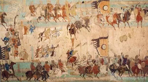 唐代 莫高窟壁画《张议潮统军出行图》