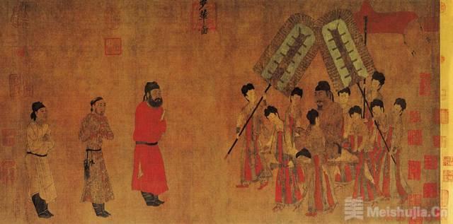 唐代  阎立本《步辇图》