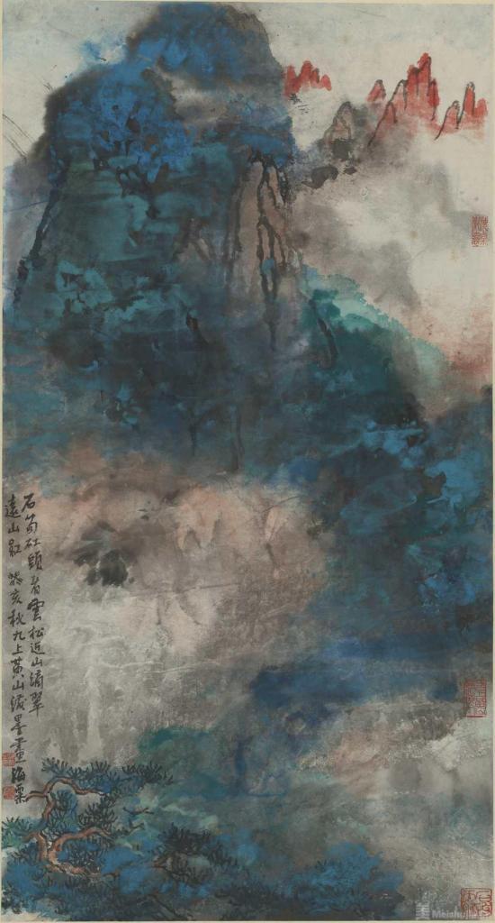 """中西融汇的毫端怒放?—?—观刘海粟""""十上黄山"""""""
