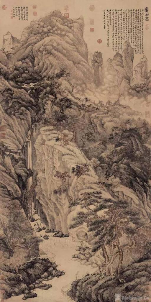 明代 沈周《庐山高图》