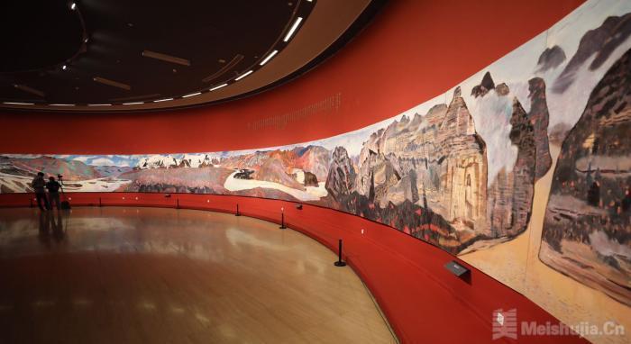 百米油画长卷《黄河》入藏中国美术馆创馆藏纪录