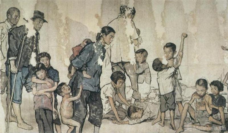 近现代 蒋兆和《流民图》