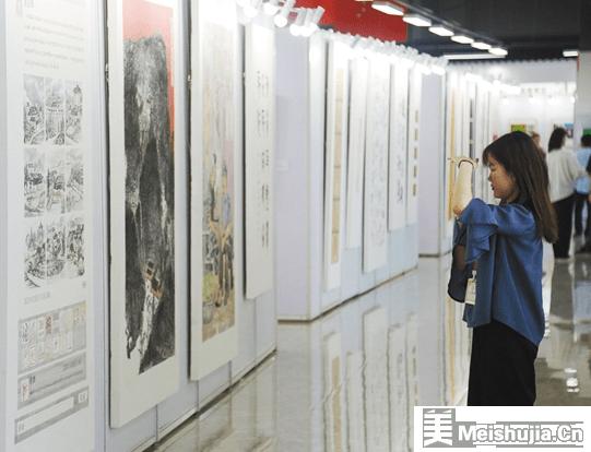 """""""脱贫攻坚看广东""""美术书法摄影主题展巡展开幕"""