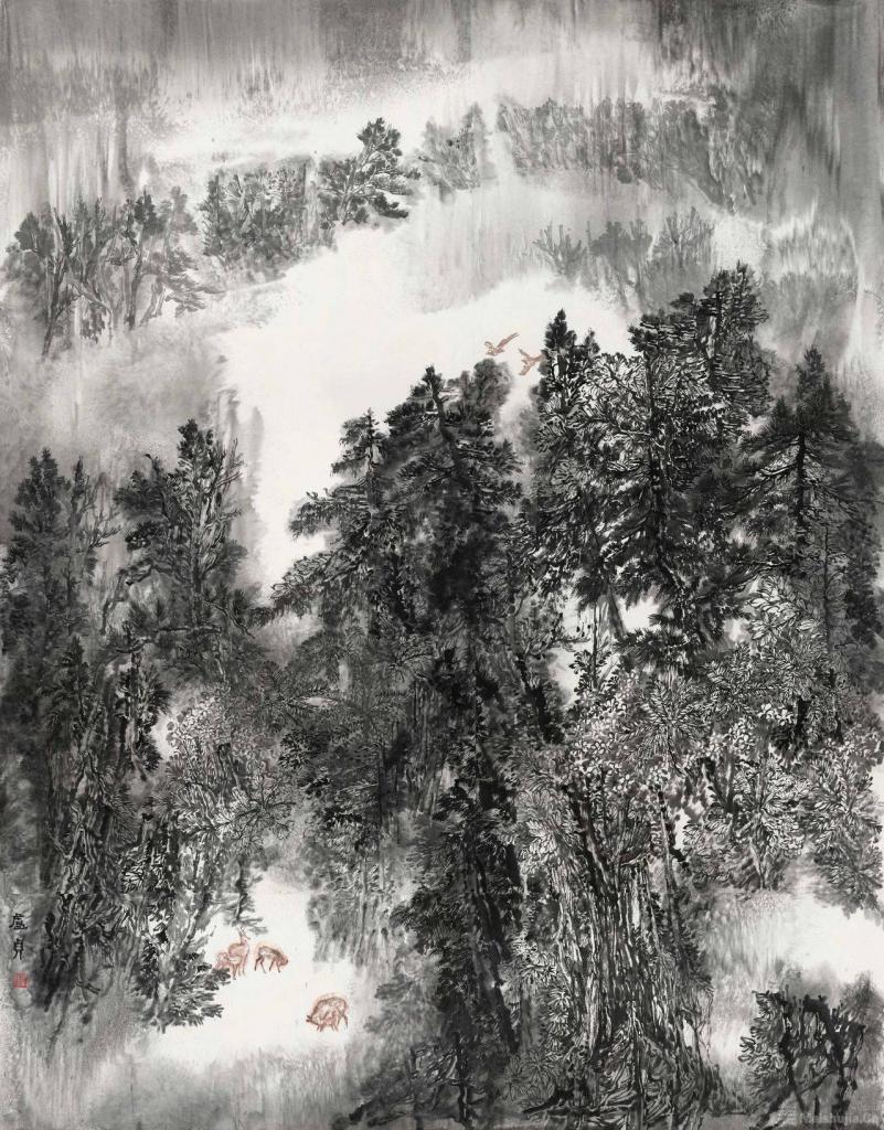"""""""青年视野·当代山水画提名展""""在广州开幕"""