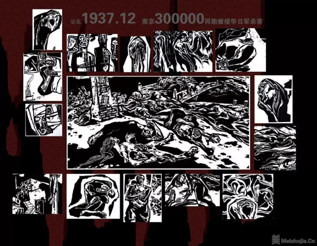 """三十年创作一幅版画 南京画家画""""南京大屠杀"""""""