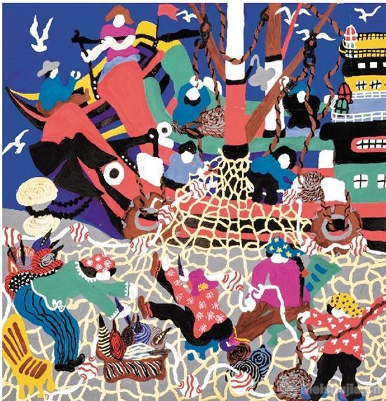 浙江舟山群岛渔民画作品展在杭州开展