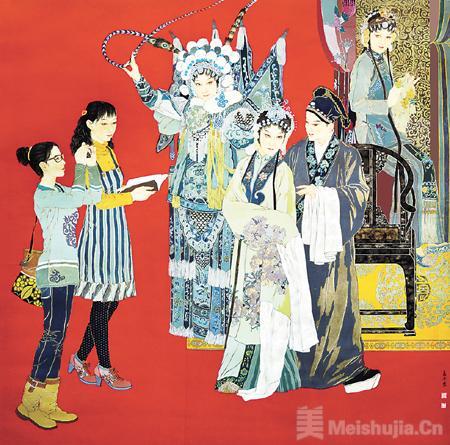 水袖曼舞 梨园寻梦——中国画《梨园寻梦》创作体会