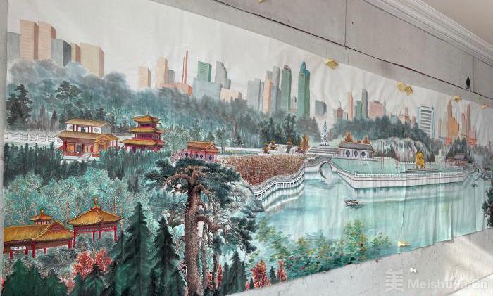 """访内蒙古农村的""""草根""""画家:用画笔记录新农村变迁"""
