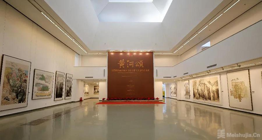 """中国国家画院用近200件作品艺术再奏新""""黄河颂"""""""