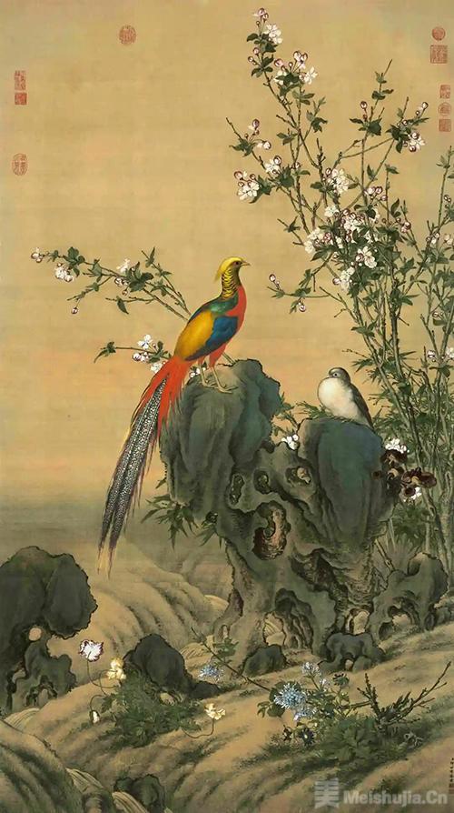 故宫博物院藏 清·郎世宁《锦春图》