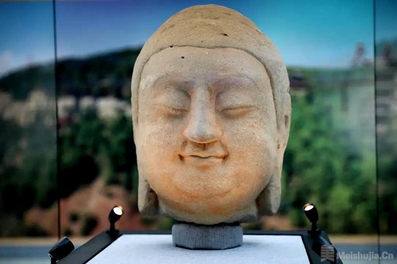 天龙山石窟回归国宝在北京鲁迅博物馆展出 漂泊百年 佛首回家